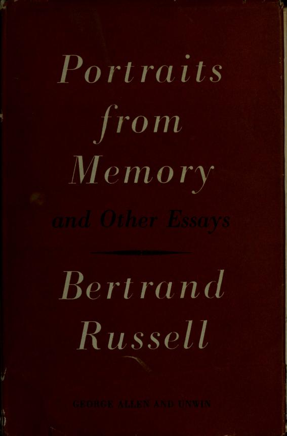 Portraits from memory by Bertrand Russell