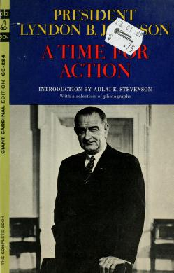A time for action by Lyndon B. Johnson